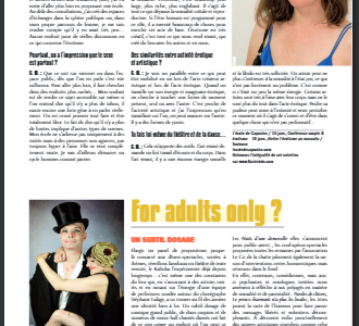 Un interview de Capucine Moreau dans Flash !