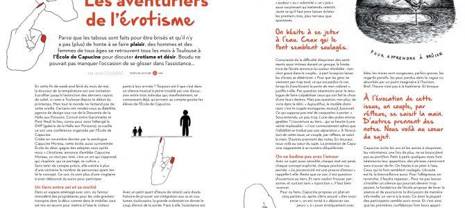 Un article détaillé au coeur de l'Ecole dans le magazine Boudu